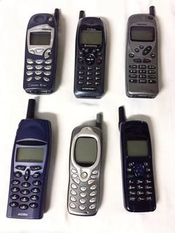 Blue/Black Keypad Face Cell Phones