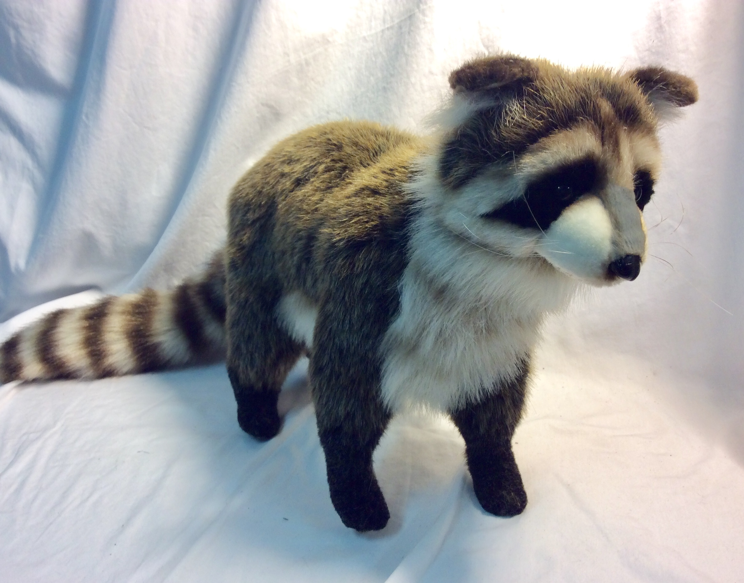 Soft stuffed raccoon