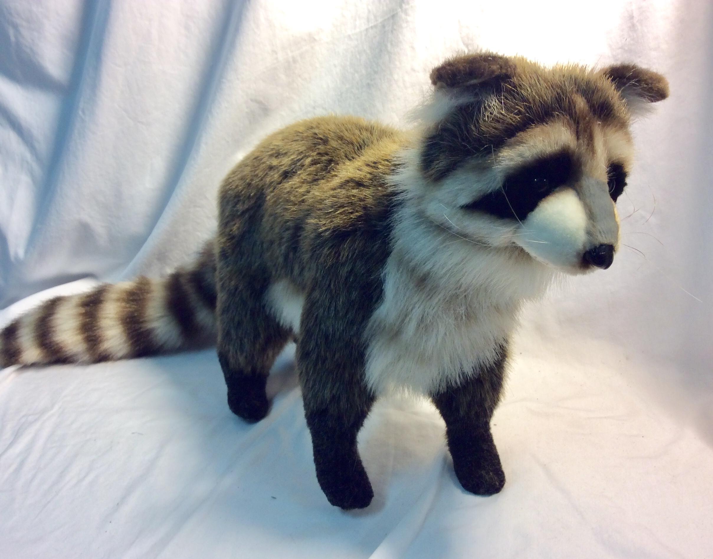 Soft stuffed raccoon