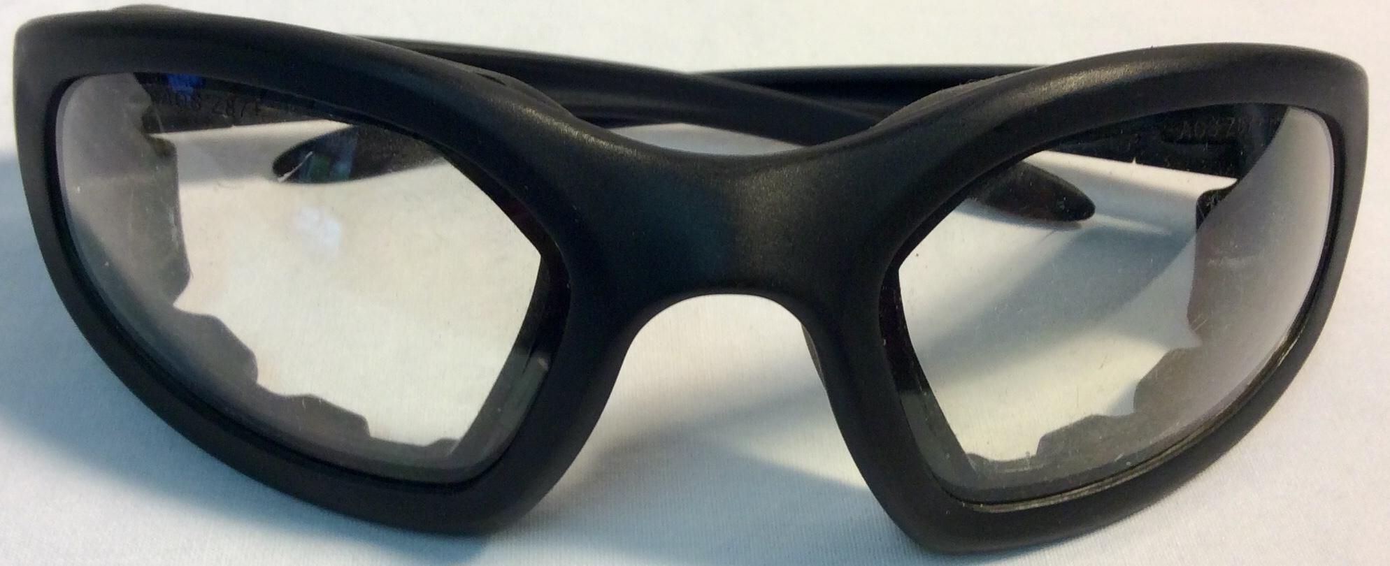 Peltor Eyewear black frame with rubber protection