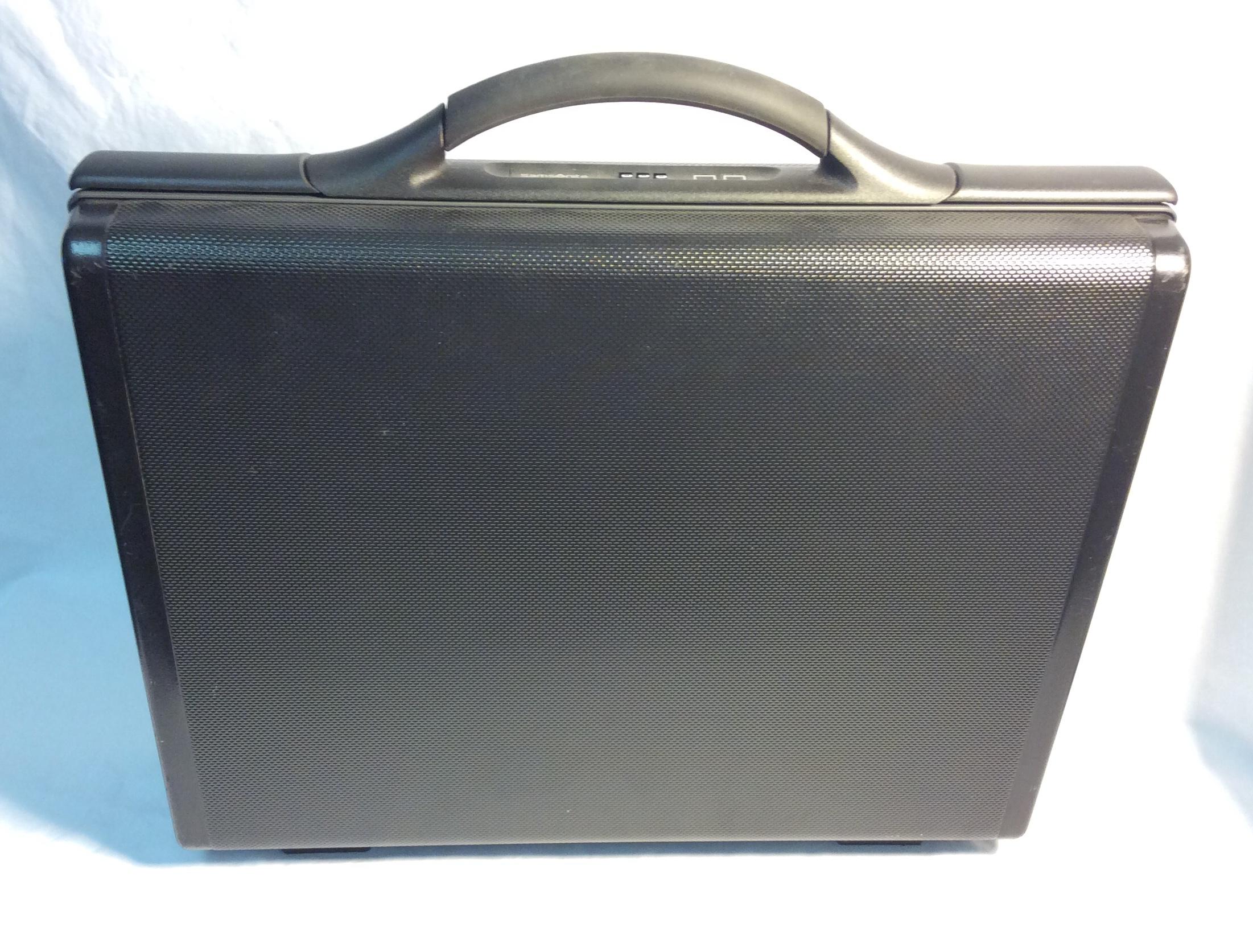 Samsonite textured black plastic briefcase
