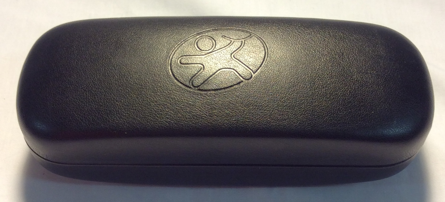 Black leather case with graphic