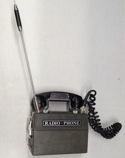 Vintage radio-phone with massive antenna