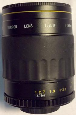 Opteka 500MM Mirror lens,black metal