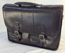 Leather business briefcase bag