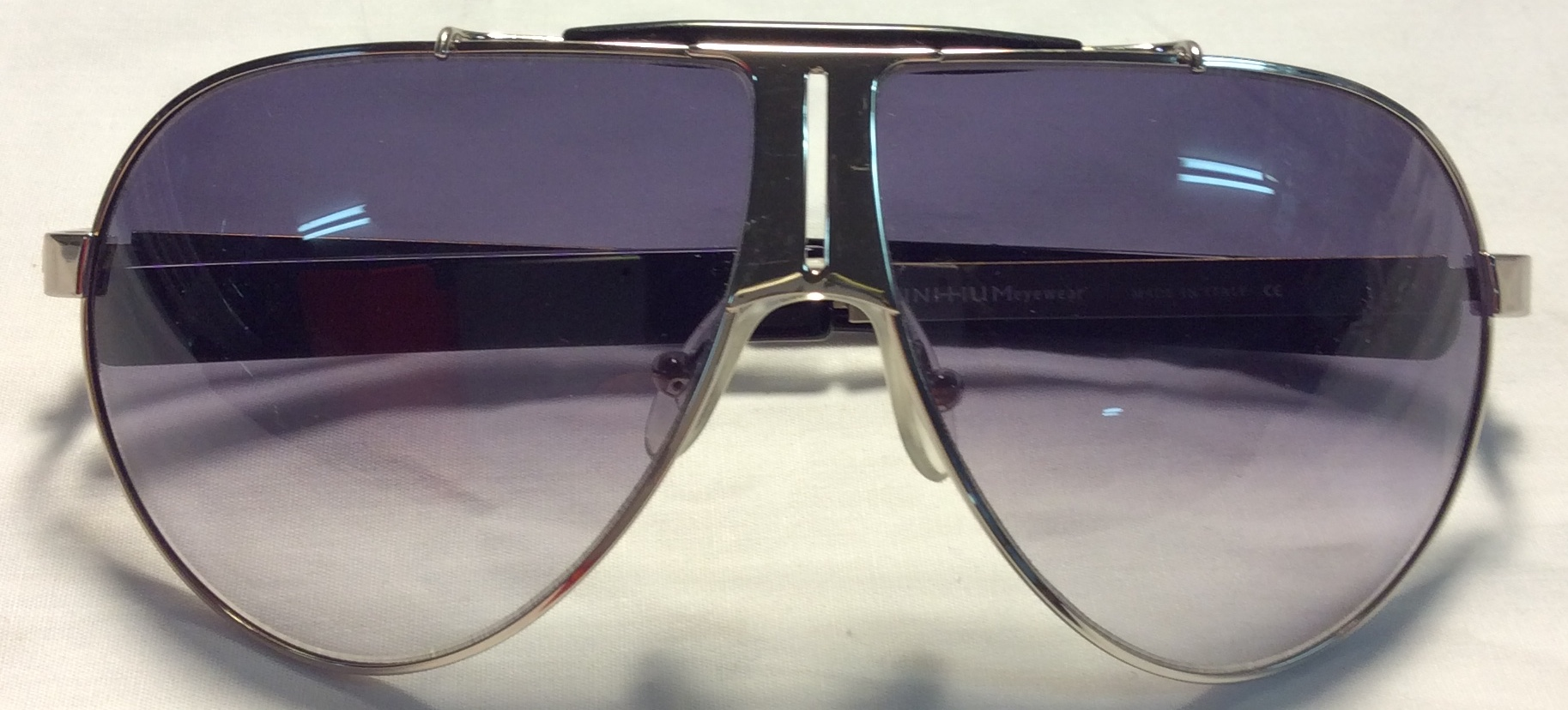 Initium Thick silver metal frames