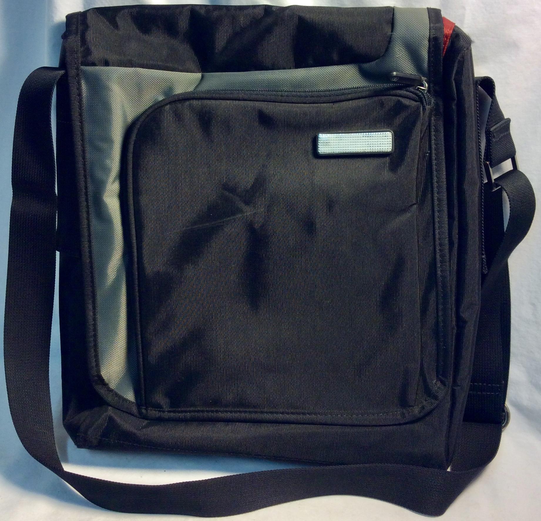 """Black and grey tablet (13"""") shoulder bag"""