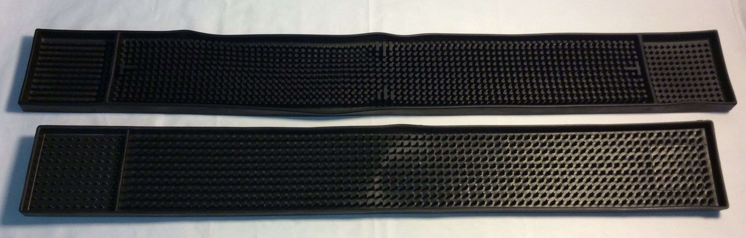 Black rubber Strip Bar Mats- 2 style