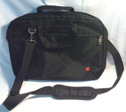 Black Polyester laptop bag