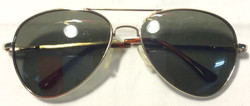 Gold metal frame with tortoise shell