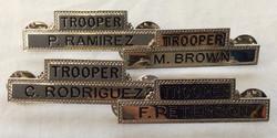 Silver Trooper Name Pins (Various Names)