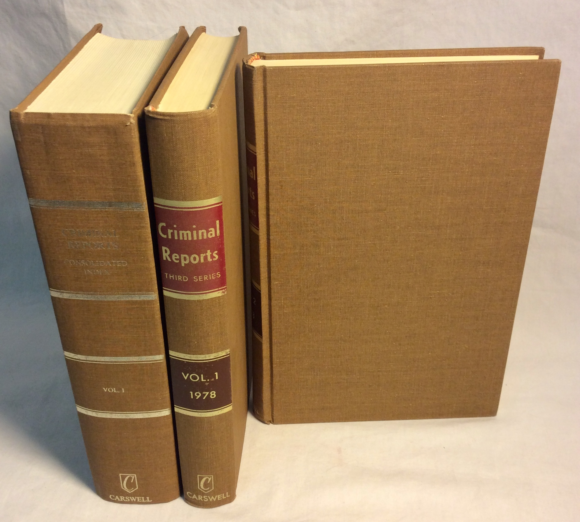 Set of beige hardcover law books