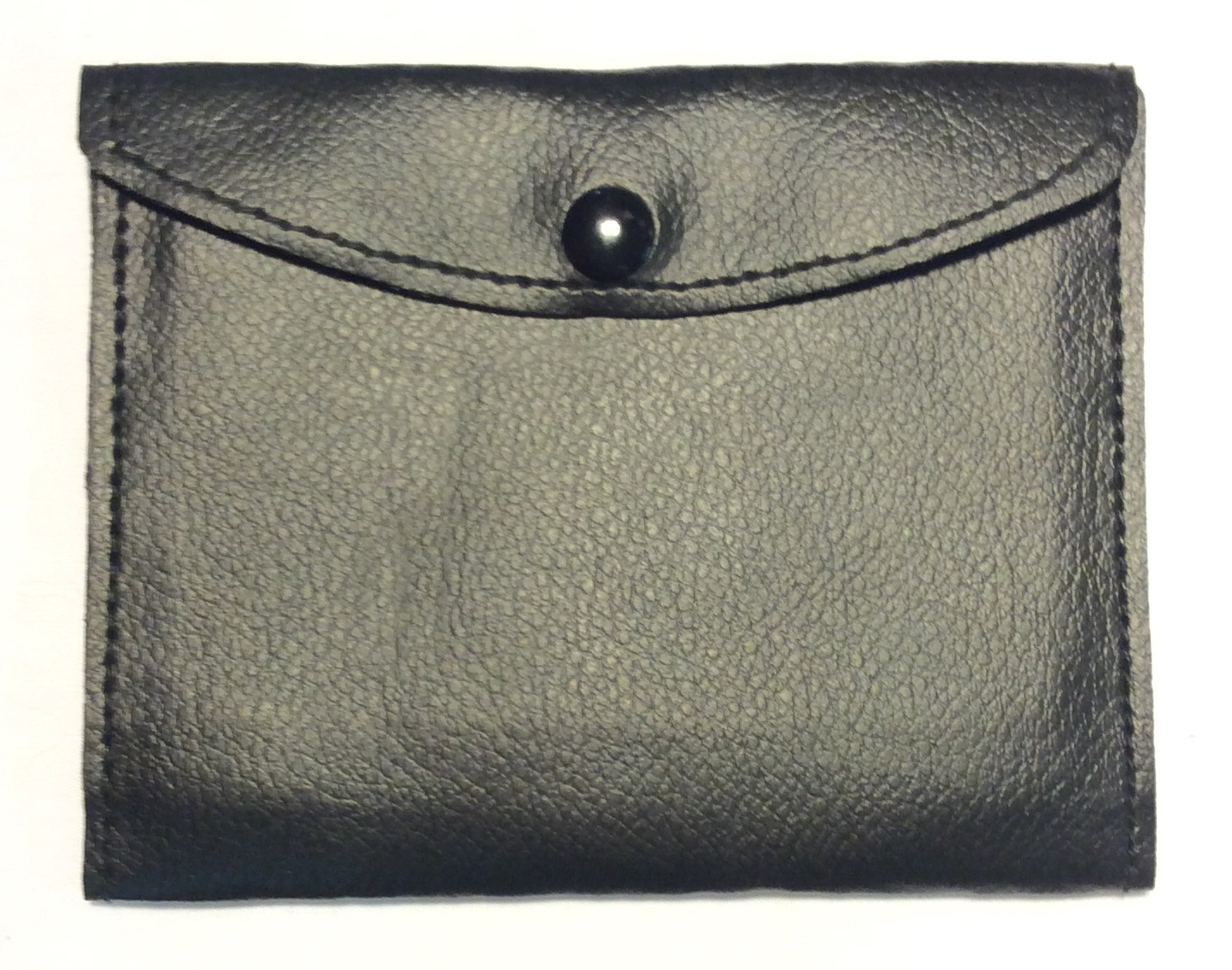 Very thin black leather wallet