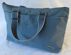 Vinyl Lacoste baby-blue handbag