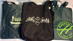 Assorted reusable grocery tote bags