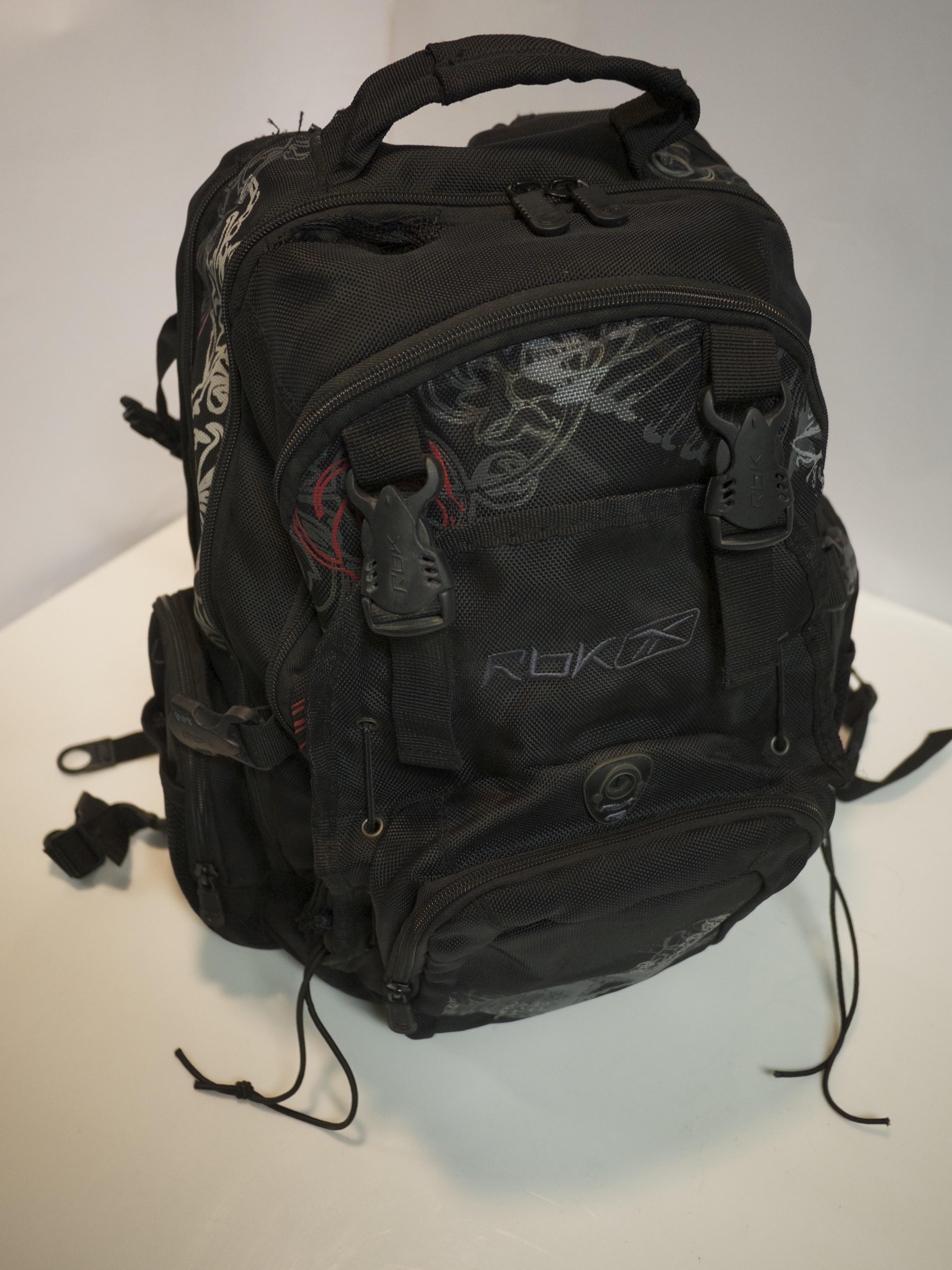Black Decorative Backpack