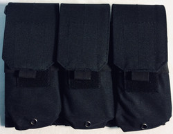 Black nylon 3 mag rifle pouch