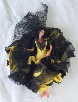 Large yellow dress doll.