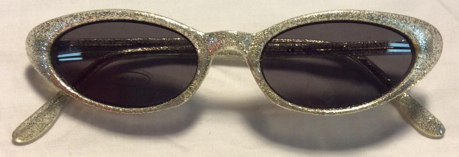 Thin silver glitter plastic frames