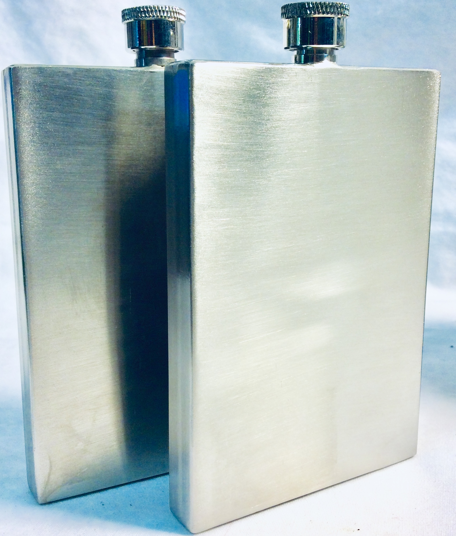 3oz silver rectangular flask