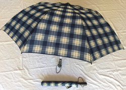 Blue and White checkered oversize