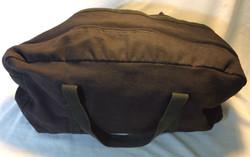 Small Black Canvas Duffel Bag