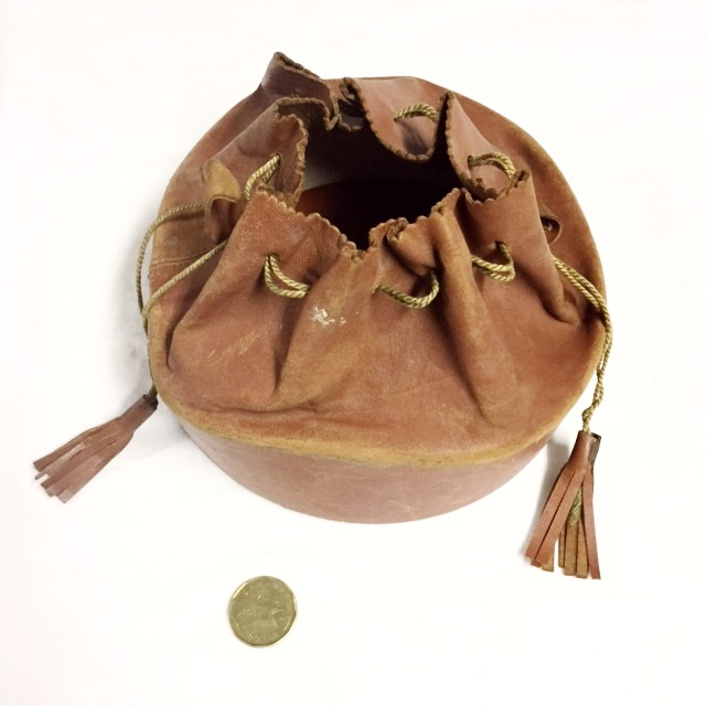 Round Leather Sack