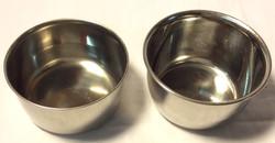 Silver metal bowls