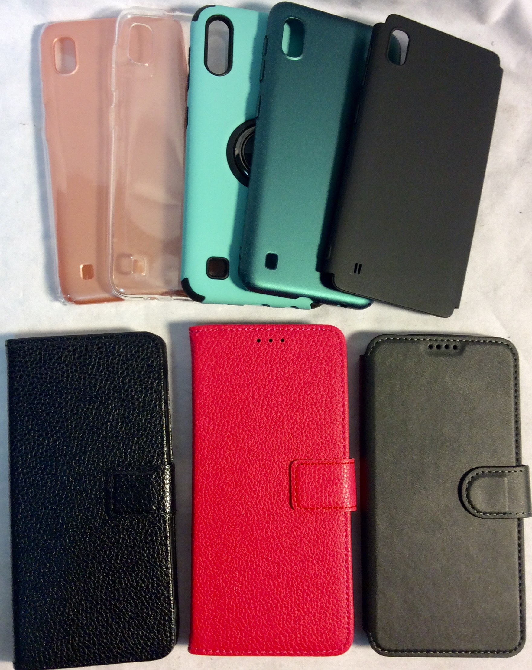 Assorted Samsung Galaxy A10 cases
