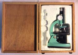 Tasco Deluxe Microscope in a wooden