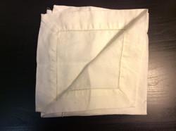 """White cloth napkins with eyelet detail 17""""x17"""" - x4"""