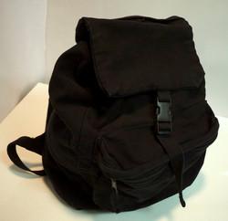 Black cotton knapsack