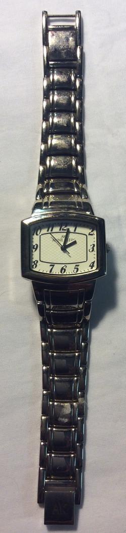 Anne Klein watch- rectangular white
