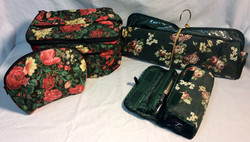 Various travel toiletries bags