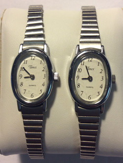 Timex watch - oval white face