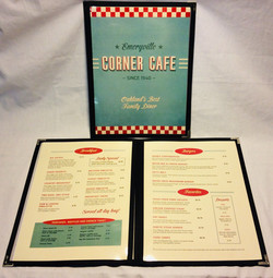 Clear cover menus with black nylon