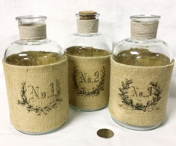 Burlap Covered Bottles