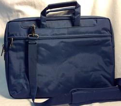 Navy nylon laptop shoulder bag