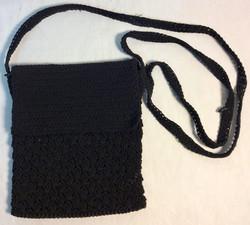 Black woven back with shoulder strap