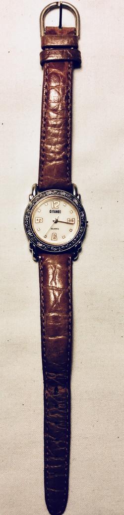 Silver ring framed watch