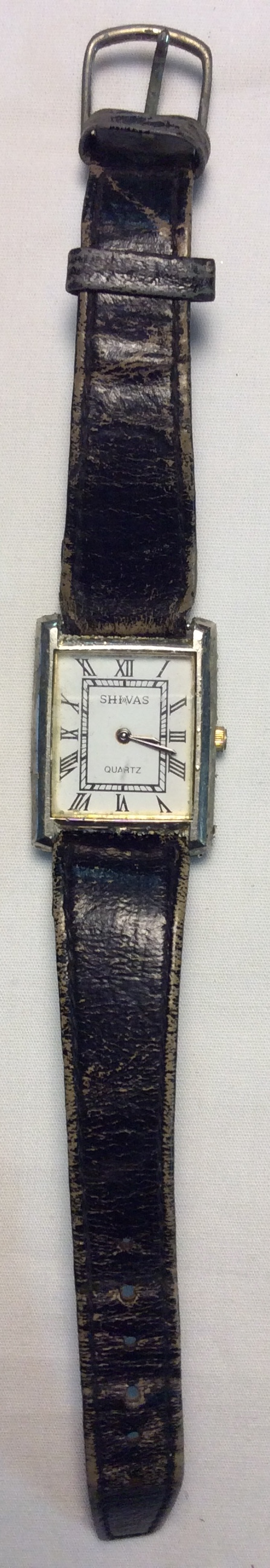 Shivas watch - square white face
