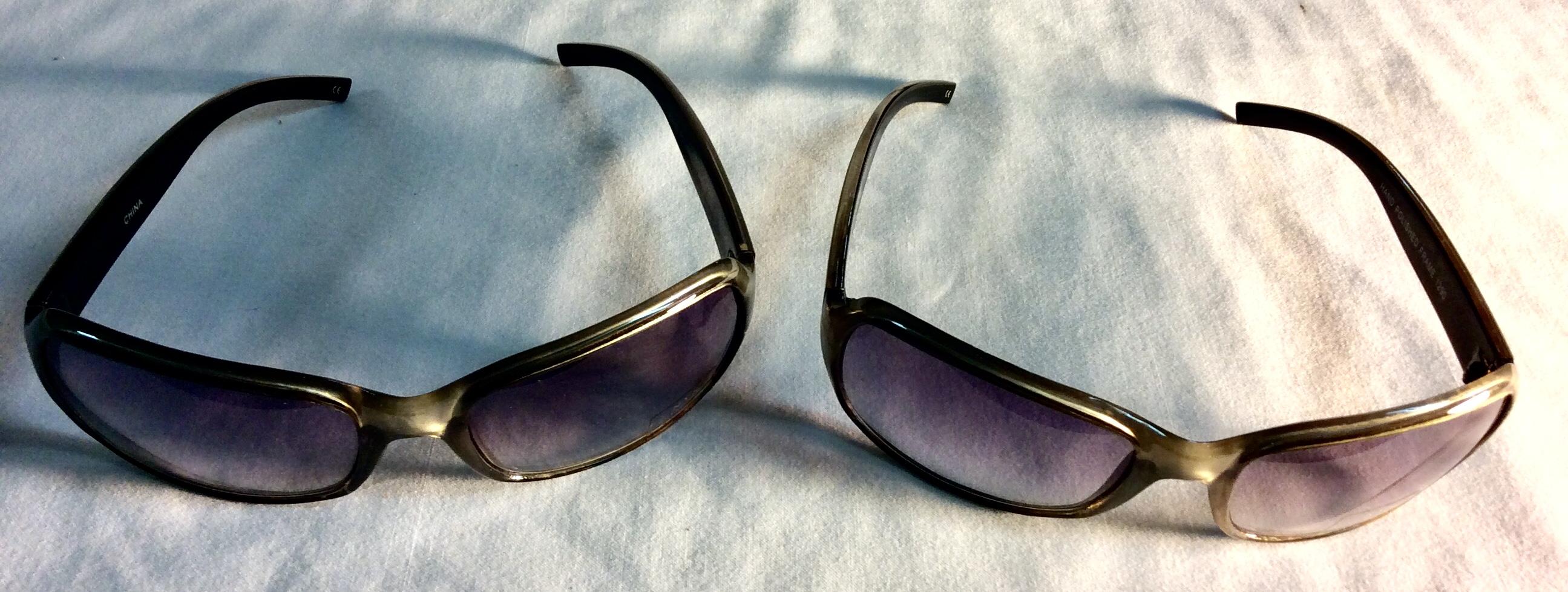Silver frame, plastic sunglasses