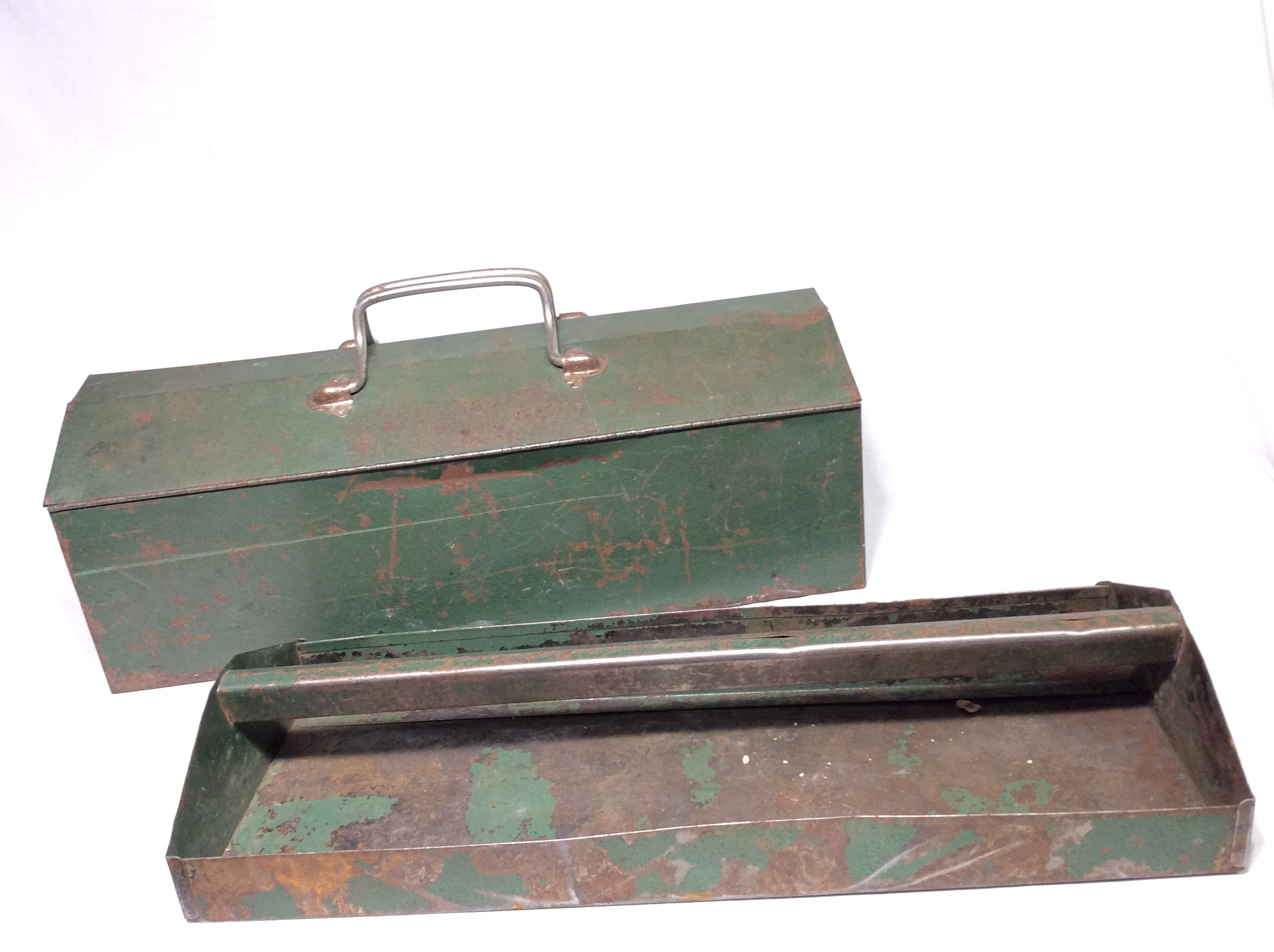 Vintage Rusty Green Toolbox