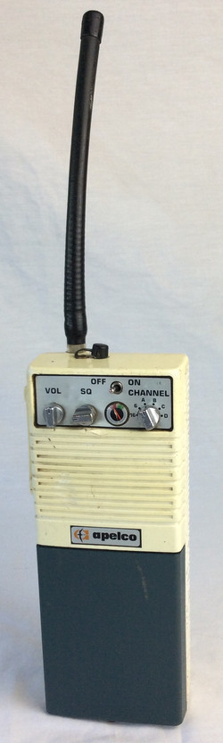 Apelco radio, blue and pale yellow, retro