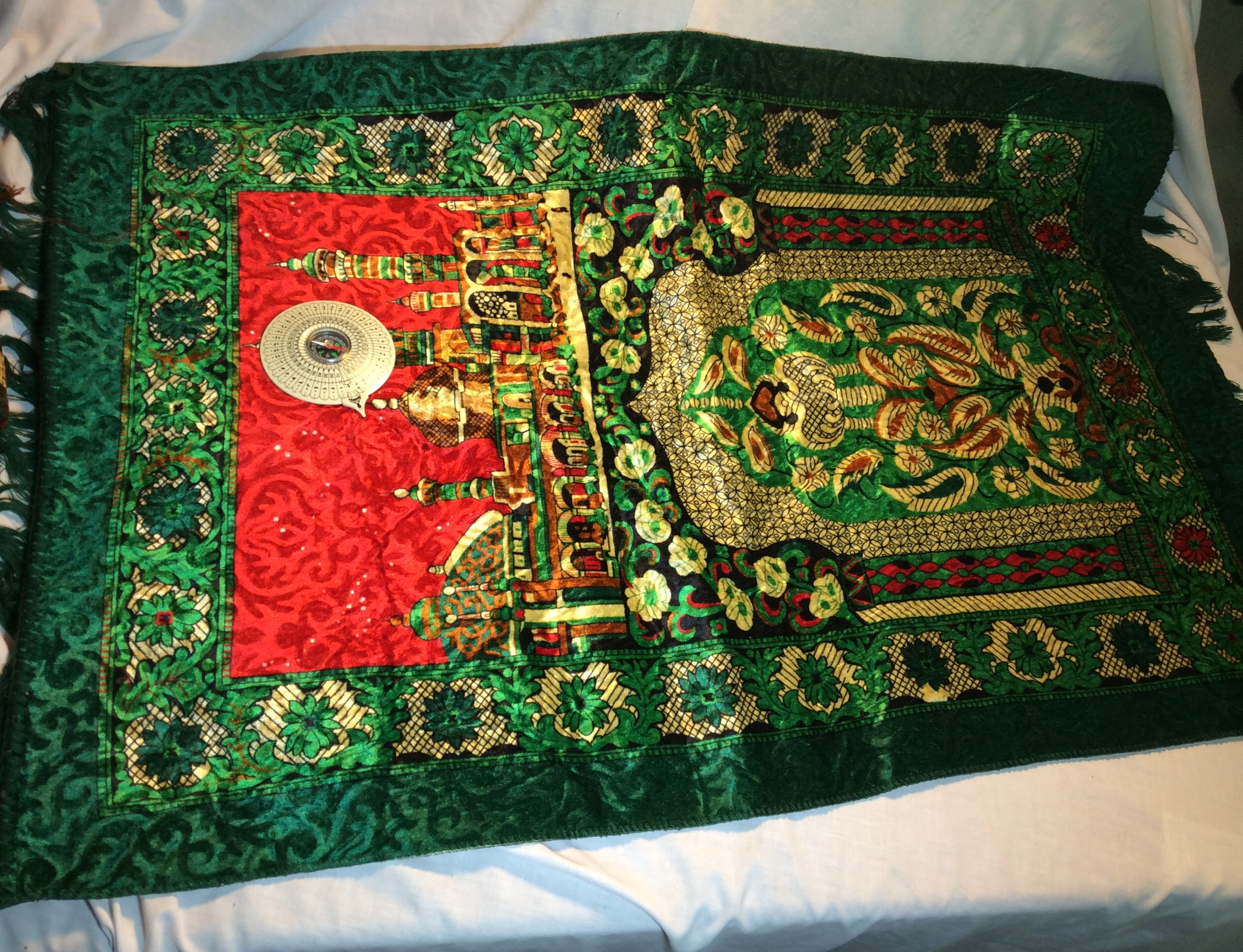 Prayer Mat with Qibla