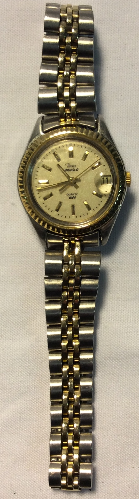 Timex Gold face, thin gold casing
