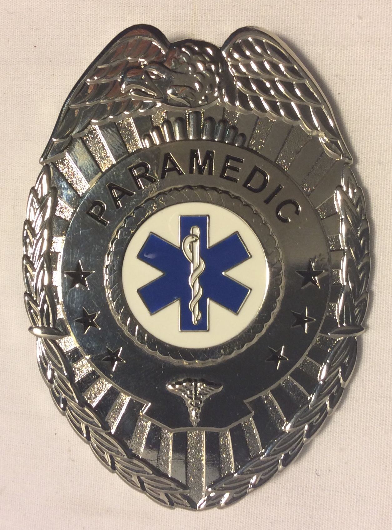 Paramedic Badge, silver oval