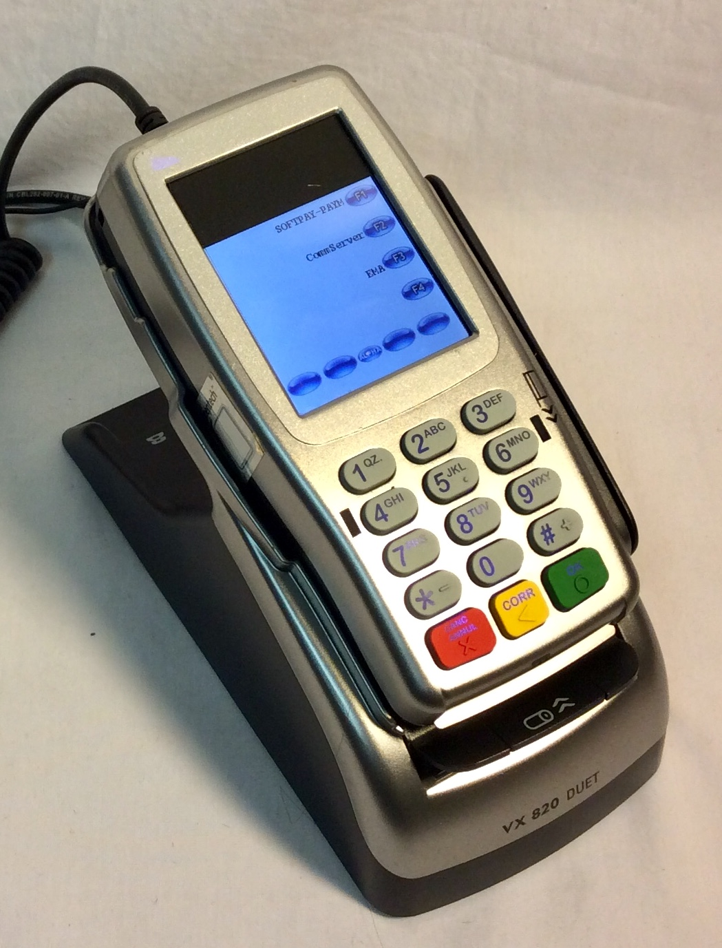 Working silver debit card machine
