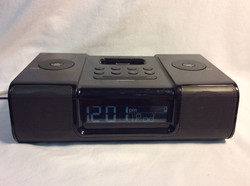Rigged iPhone/iPod alarm clock and music box