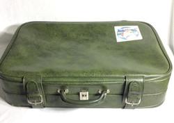 Green retro luggage